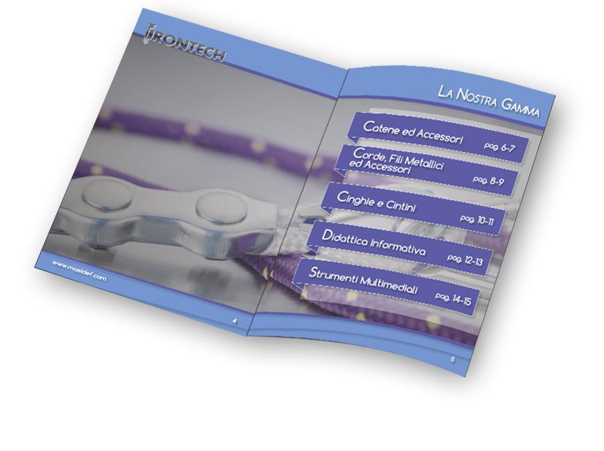 brochure masidef corde catene accessori